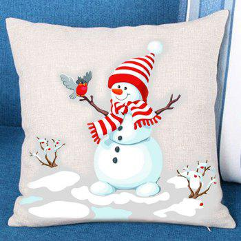 Branches Snowman Pattern Decorative Sofa Pillowcase - COLORFUL COLORFUL