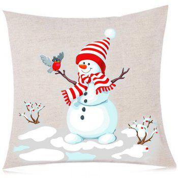 Branches Snowman Pattern Decorative Sofa Pillowcase - COLORFUL W18 INCH * L18 INCH