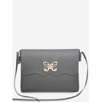 Butterfly Metal Embellished Crossbody Bag