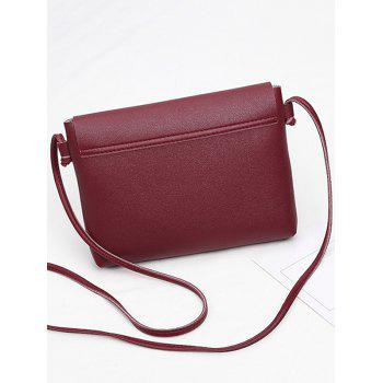 Butterfly Metal Embellished Crossbody Bag -  RED