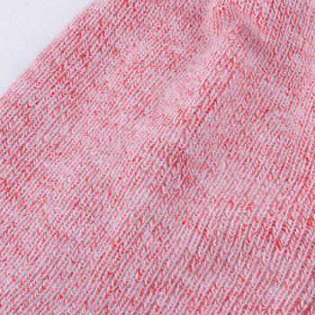 Outdoor Flanging Decorated Crochet Knitted Slouchy Beanie - PINK