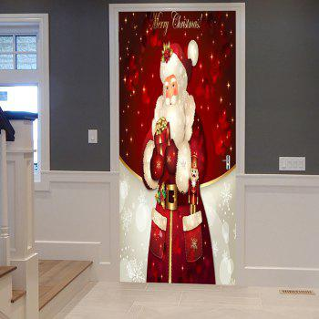 Christmas Santa Claus Pattern Door Stickers