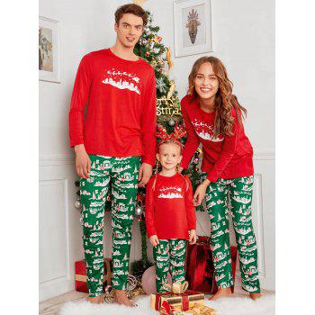 2018 city printed family christmasxmas pajama set red mom s in pajamas online store best. Black Bedroom Furniture Sets. Home Design Ideas