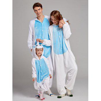 Fleece Unicorn Animal Family Onesie Pajamas - BLUE KID 120