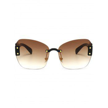 UV Protection Butterfly Shaped Decorative Oversized Sunglasses -  TEA COLORED