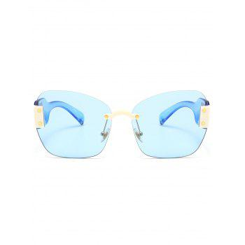 UV Protection Butterfly Shaped Decorative Oversized Sunglasses -  LIGHT BLUE