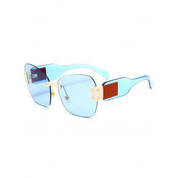UV Protection Butterfly Shaped Decorative Oversized Sunglasses - LIGHT BLUE LIGHT BLUE