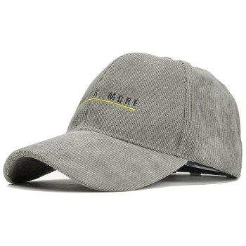 Less is More Pattern Decorated Corduroy Baseball Hat - GRAY GRAY