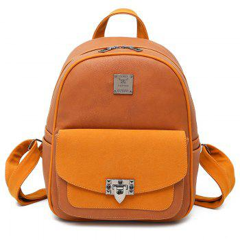 Multi Function Faux Leather Backpack With Handle - BROWN BROWN