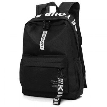 Letter Print Multi Function Backpack With Handle - WHITE
