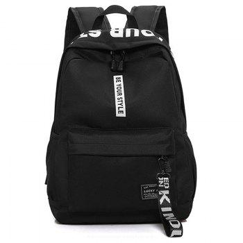 Letter Print Multi Function Backpack With Handle - WHITE WHITE