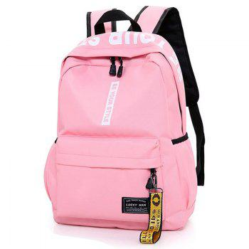 Letter Print Multi Function Backpack With Handle - PINK