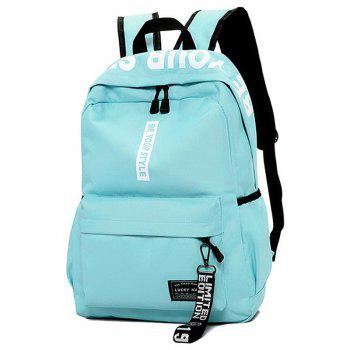 Letter Print Multi Function Backpack With Handle - GREEN