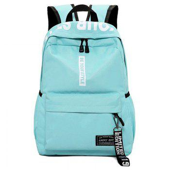 Letter Print Multi Function Backpack With Handle - GREEN GREEN