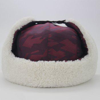 Winter Waterproof Thicken Hunting Trapper Hat - WINE RED
