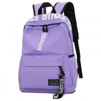 Letter Print Multi Function Backpack With Handle -  PURPLE
