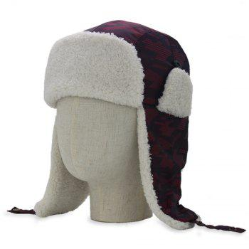 Winter Waterproof Thicken Hunting Trapper Hat - WINE RED WINE RED