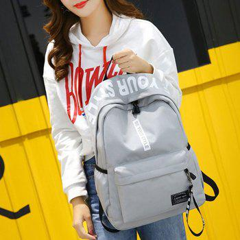 Letter Print Multi Function Backpack With Handle -  GRAY
