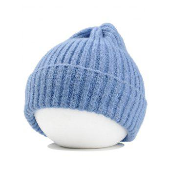 Flanging Embellished Crochet Knitted Lightweight Beanie - LIGHT BLUE LIGHT BLUE