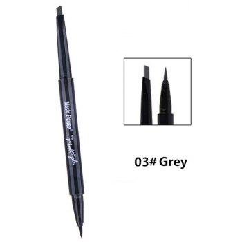 Professional Dual-use Long Lasting Waterproof Eyebrow Eyeliner Pencil - PATTERN C PATTERN C