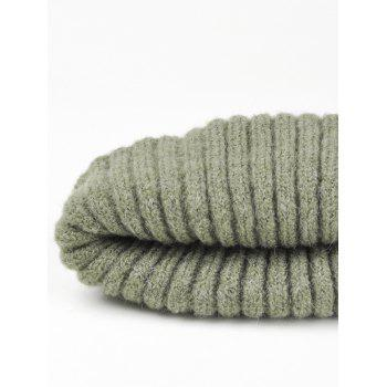 Flanging Embellished Crochet Knitted Lightweight Beanie - BLACKISH GREEN