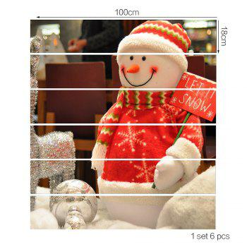 Smile Snowman Pattern Stairway Stickers - COLORFUL 100*18CM*6PCS