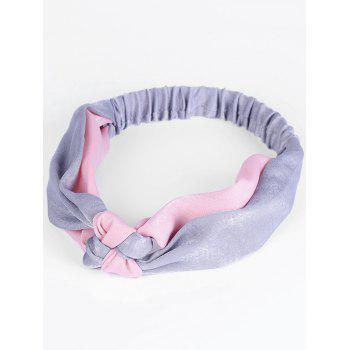 Two Tone Knot Elastic Hair Band - GRAY AND RED GRAY/RED