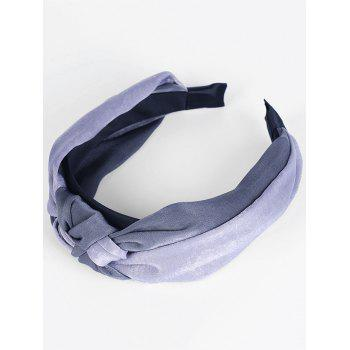 Vintage Two Tone Knot Hairband - DARK GRAY + LIGHT GRAY DARK GRAY / LIGHT GRAY