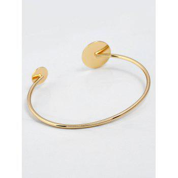 Bracelet manchette rond en alliage simple - Or