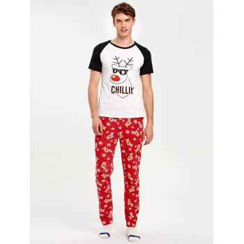 Rudolph Deer Matching Family Christmas Pajama - RED DAD S