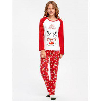 Rudolph Deer Matching Family Christmas Pajama - RED MOM XL