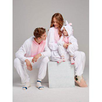 Pyjamas en molleton Unicorn famille animaux Onesie - ROSE PÂLE DAD M