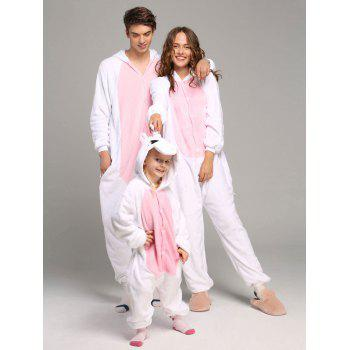 Pyjamas en molleton Unicorn famille animaux Onesie - ROSE PÂLE KID 120