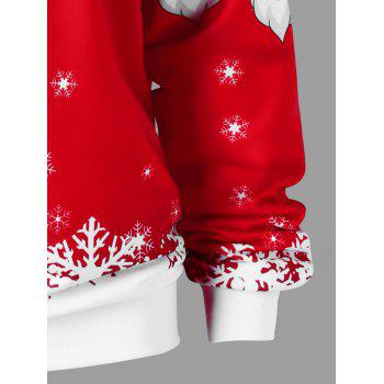 Plus Size Christmas Santa Claus Skew Collar Sweatshirt - RED/WHITE RED/WHITE