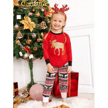ELK Matching Family Christmas Pajama - RED DAD L