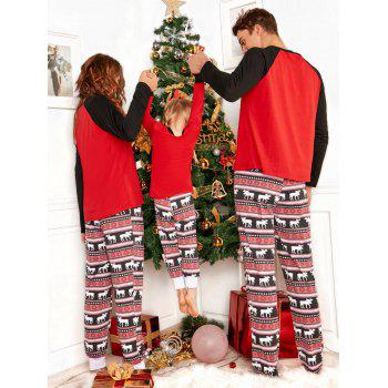ELK Matching Family Christmas Pajama - RED MOM L