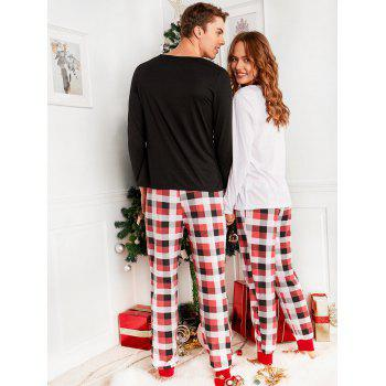 Bear Plaid Printed Family Christmas Pajama - RED MOM L