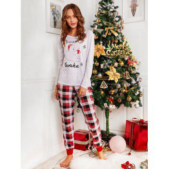 Bear Plaid Printed Family Christmas Pajama - RED MOM XL