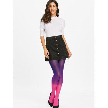 Gradient Color Pantyhose - ROSE RED ONE SIZE