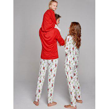 Santa Claus Printed Family Christmas Pajama Set - COLORMIX DAD L