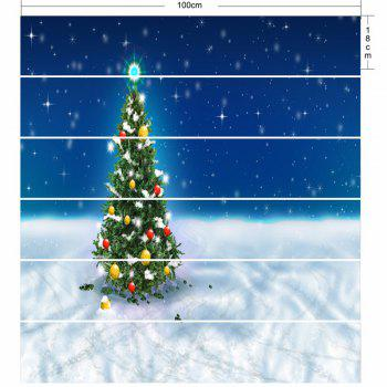 Christmas Tree Pattern DIY Decorative Stair Stickers - COLORMIX 100*18CM*6PCS