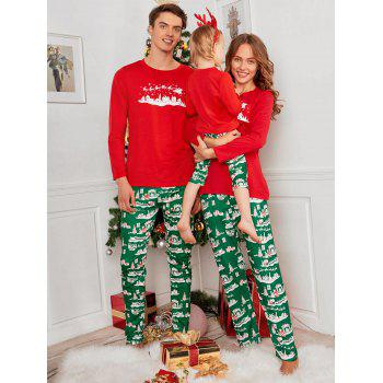 City Printed Family ChristmasXmas Pajama Set - RED DAD M