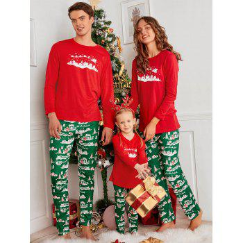 City Printed Family ChristmasXmas Pajama Set - RED DAD XL