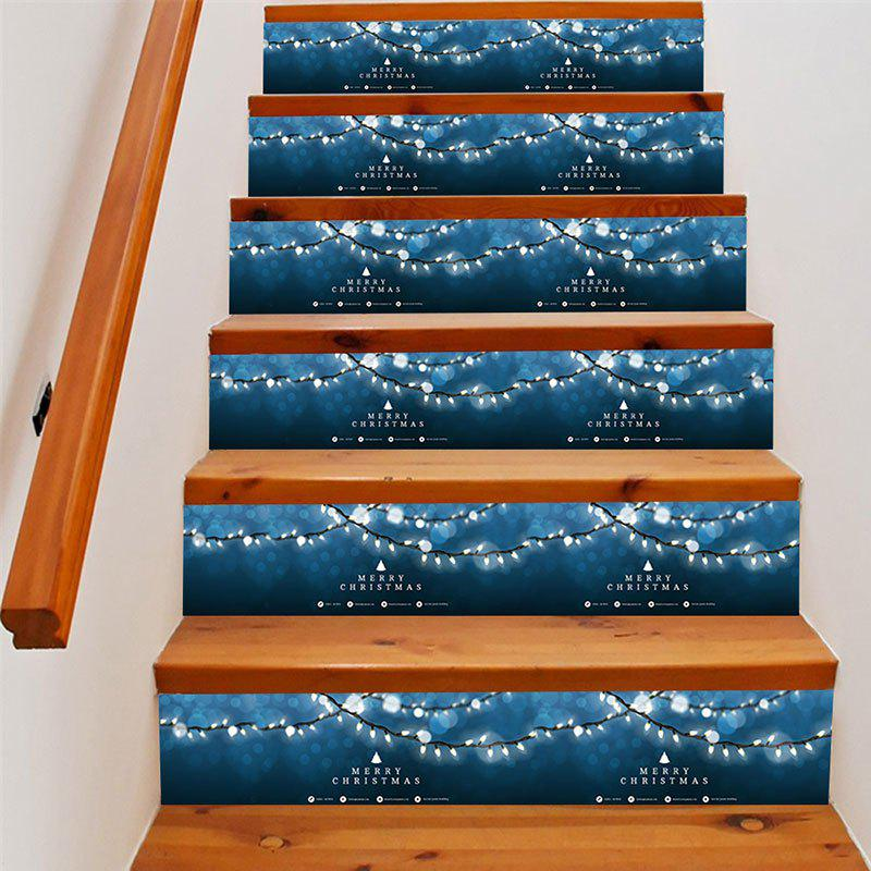 Christmas String Lights Print Decorative DIY Stair Stickers уголки d57 ford explorer 2012