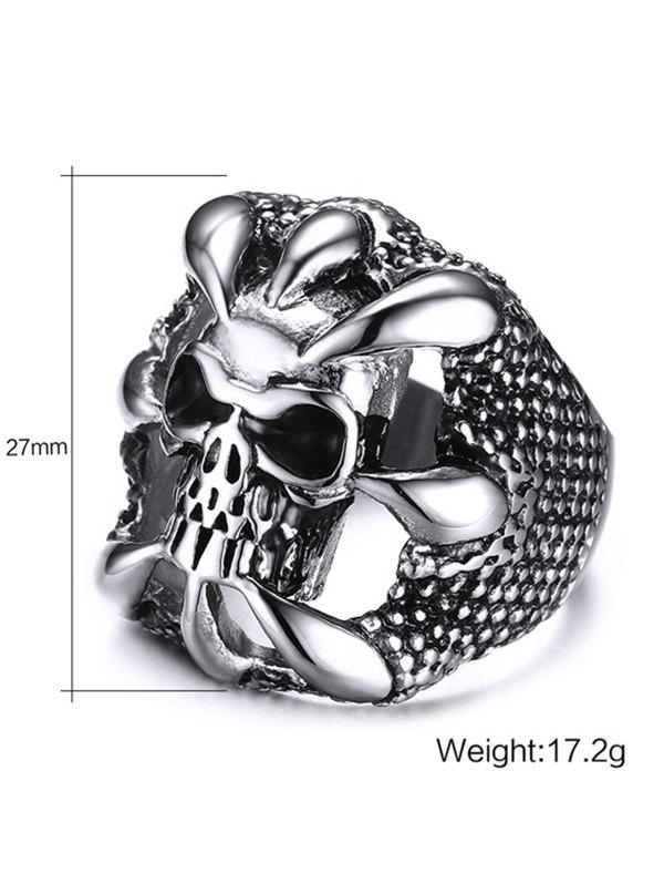 Stainless Steel Claw Skull Finger Ring - SILVER 11