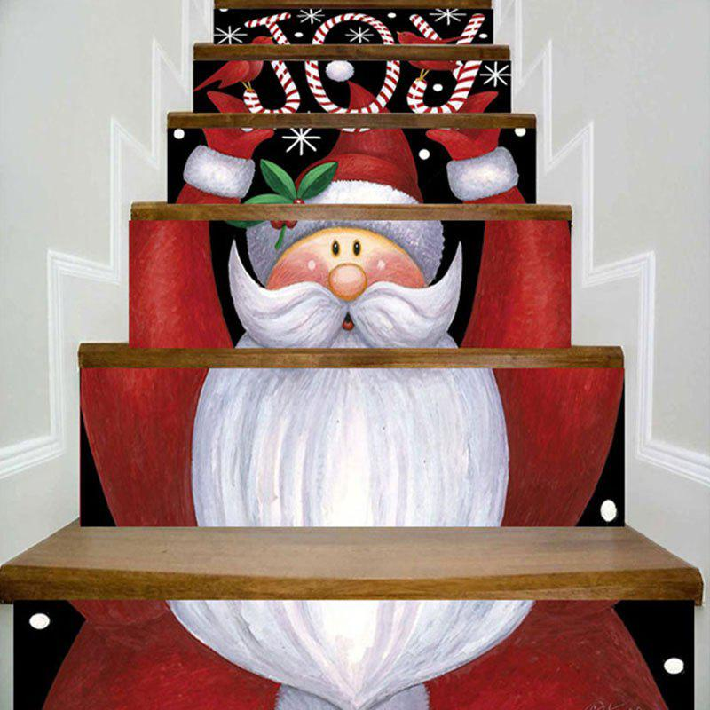 Joy Santa Claus Print Decorative DIY Christmas Stair Stickers santa claus christmas gift printed decorative pillow case