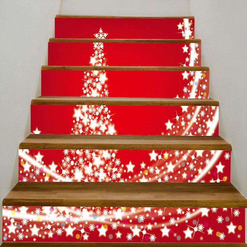 Starlight Christmas Tree Pattern Decorative Stair Stickers - COLORFUL 100*18CM*6PCS