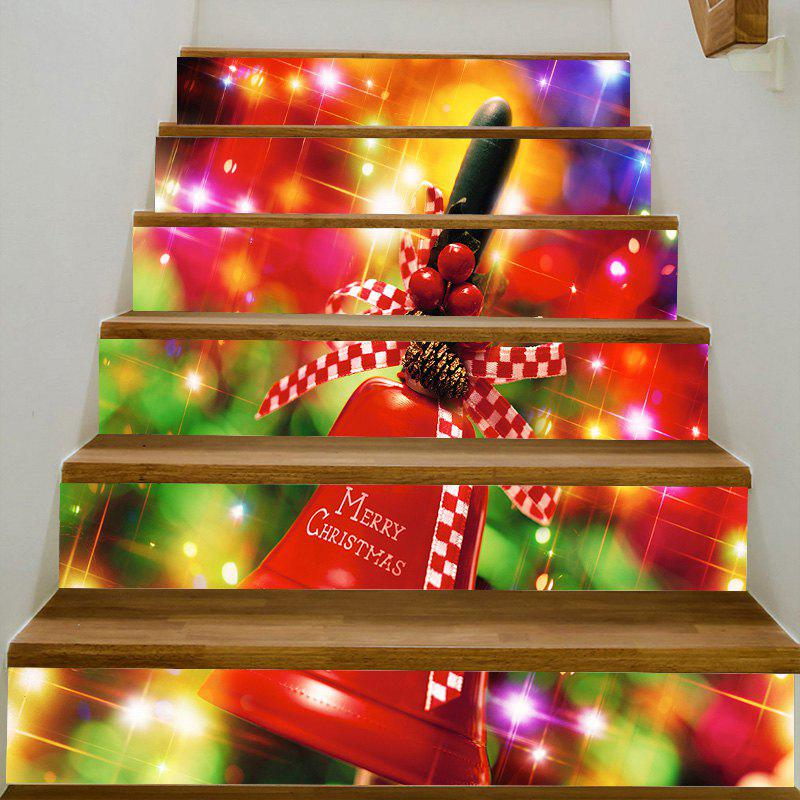 Christmas Bell Pattern Stair Stickers - COLORFUL 100*18CM*6PCS