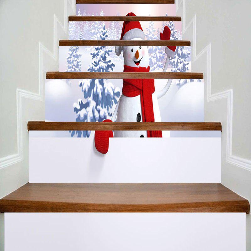 Christmas Snowscape Snowman Printed DIY Decorative Stair Stickers adidas outdoor women s terrex agravic wind jacket
