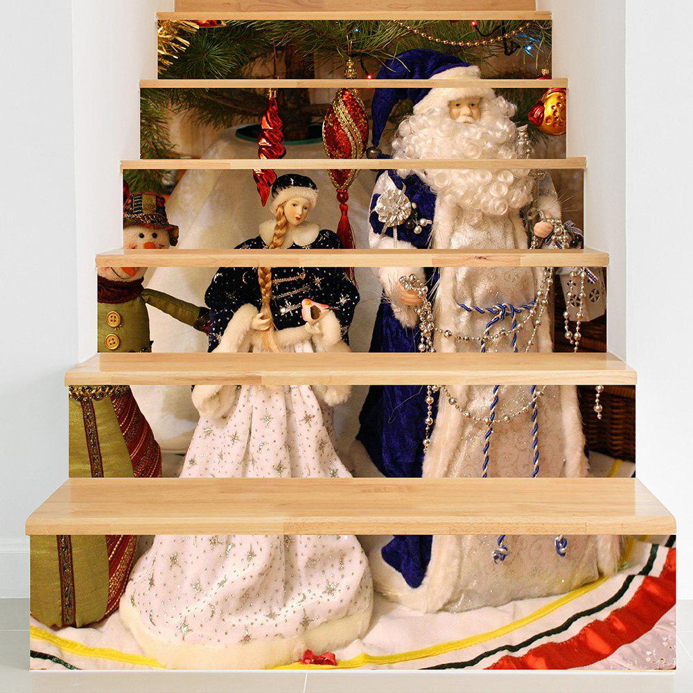 Christmas Santa Claus with Princess Pattern Decorative Stair Stickers princess 1001 stickers
